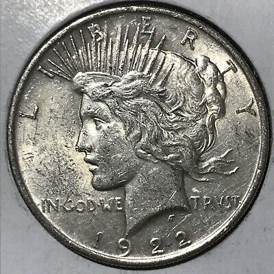 1922 Peace Silver Dollar! EF TO ABOUT UNCIRCULATED CONDITION!!! LUSTER!!!