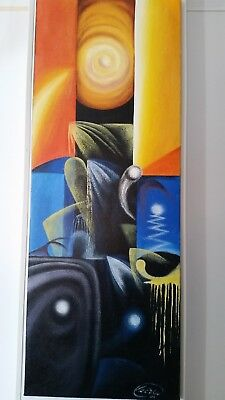 Modern Abstract Hand Painted Oil Painting Wall Art Home Decor On Canvas Framed