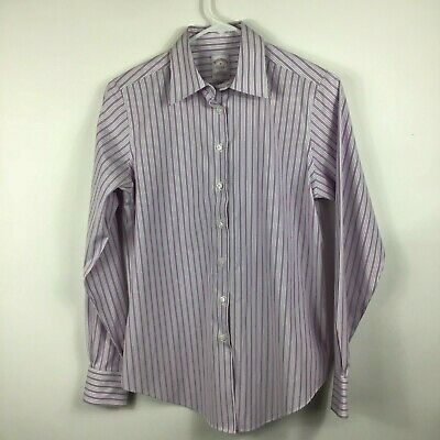 a018ef599 Brooks Brothers Women's Purple Striped Non-Iron Button Up Long Sleeve Shirt  Sz 4