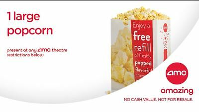 AMC Movie Theatre- 14  Large Fountain Drink & 14 Large Popcorn INSTANT
