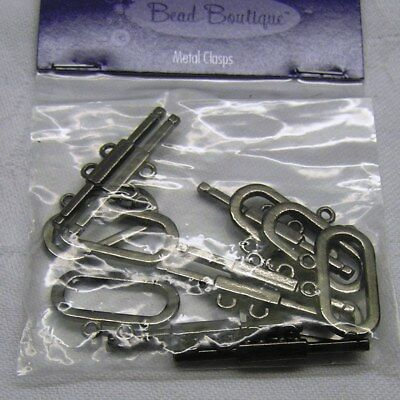 Clasp, Blue Moon Beads®, toggle, gunmetal-finished pewter x 6