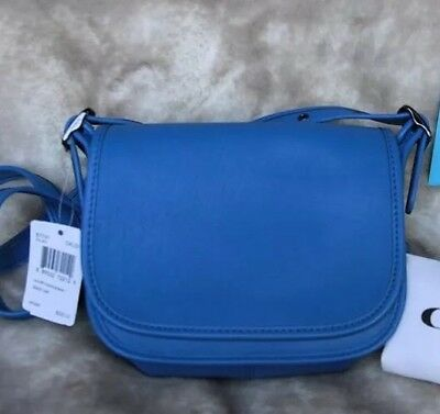NWT New Lapis Blue Navy COACH Saddle Bag 18 in Glovetanned Leather Style  57731 e83b1f4ae6