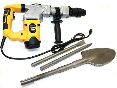 ELECTRIC SDS-MAX HAMMER DRILL 4000BPM 1300W DEMOLITION W/Shovel Chisel Bits