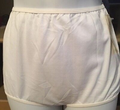 Vintage  White Play-Bottoms By Playtex  Brief Panty Size 6