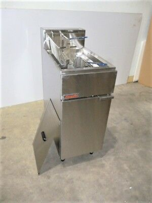 Fastfri FF18 Commercial Gas Deep Fryer Standing, Cafe Restaurant Chips Seafood