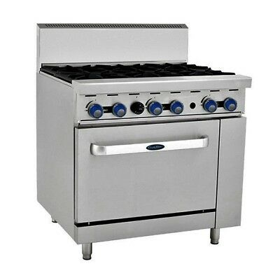 6 Burner Gas Cooktop Oven Commercial Range, New, Warranty Perfect for Restaurant