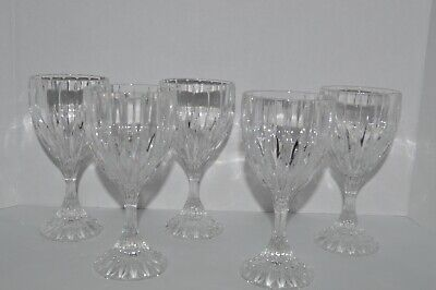 Mikasa Crystal Water Goblets/Drinking Glasses - Park Lane Set of 5