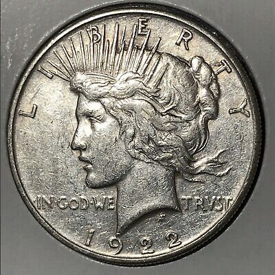 1922 Peace Silver Dollar! EXTREMELY FINE DETAILS Original Coin!!!