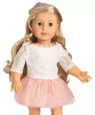 American Girl Doll  Tenney Grant Spotlight Outfit Shimmer Skirt, Lace Top NEW