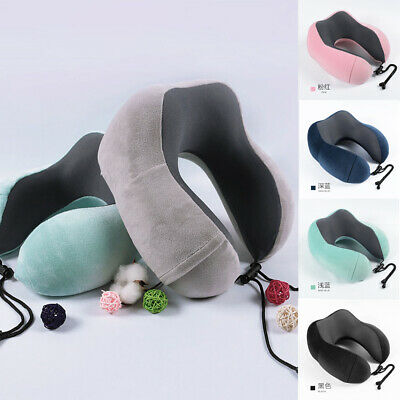 Memory Foam Neck Support Large U Shaped Travel Pillow Car Seat Cushion Best Gift