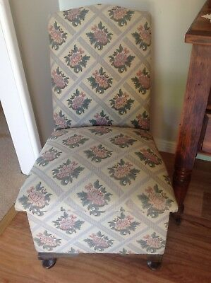 VINTAGE RETRO Chair Tapestry Upholstery With Storage Compartment