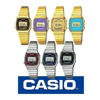 Casio womens LA670WGA-9 Classic Digital Watch Ladies Gold Digital Womens Watch
