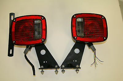 Genuine Ford PAIR F350-F650 Grote 5371 Tail Lights Assembly 6C34-13404-AA NEW