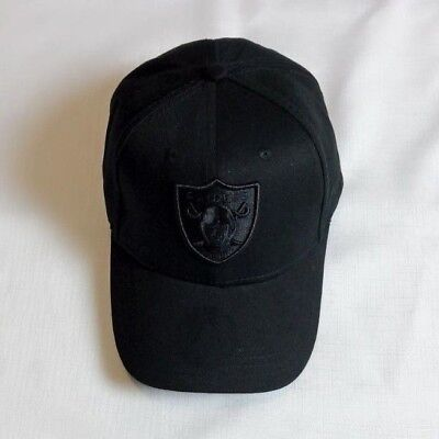 Black Oakland Raiders Adjustable Size Football NFL Cap NY Unisex Baseball Hat