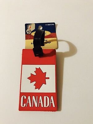 One NWT CANADA Flag 🇨🇦 Maple Leaf Travel Luggage Backpack Tag BRAND NEW