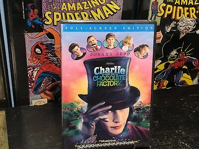 BRAND NEW SEALED DVD Charlie and the Chocolate Factory (DVD, 2005, Full Frame)