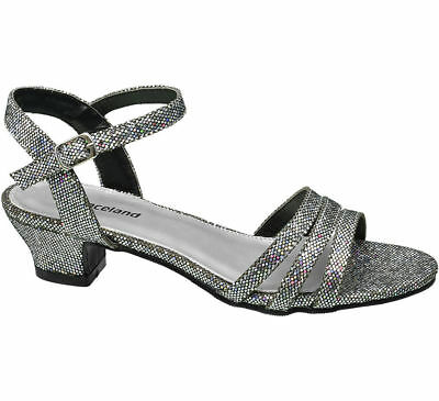 6d250795aa1 Deichmann Shoes Graceland girl Teen Girl Silver Sparkle Party Sandals silver  New