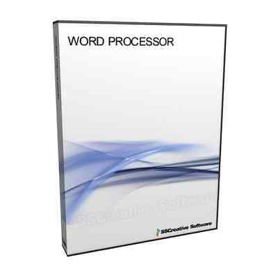 PM Word Processor Software Compatible With MS Word 2010 DOC RTF PC MAC