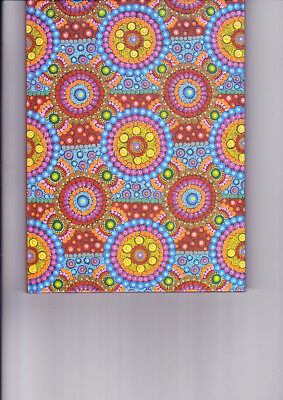 "Aboriginal Lined Blank Book "" Rainbow Lights""  by  Rosina Ryder ( NEW )"