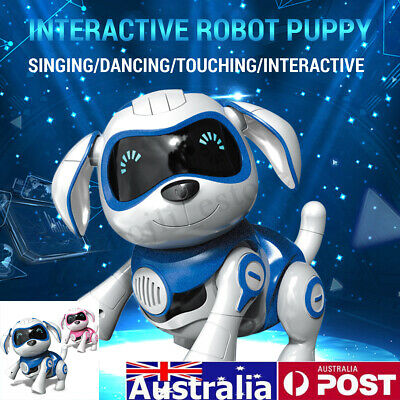 AU RC Smart Dog Remote Control Robot Interactive Electronic Pet Toy Kids Gift