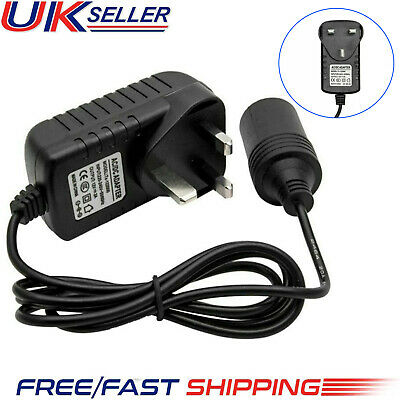 Cigarette Lighter Socket 240V Mains Plug to 12V DC Car Charger Power Adapter