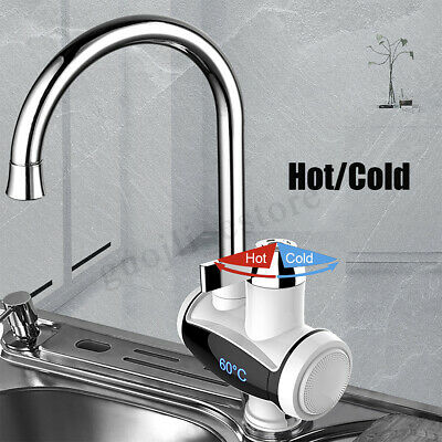220V Electric Faucet Tap Instant Hot Water Heater Home Bathroom Kitchen 3000W