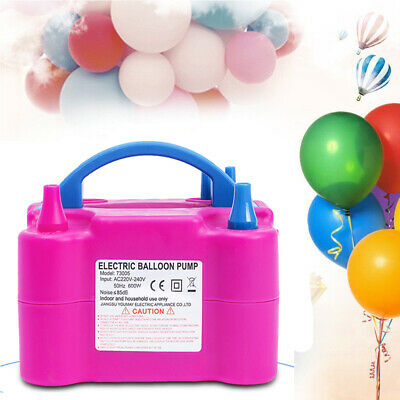 600W Electric Balloon Pump Inflator Air Blower Two Nozzle Party New Portable A