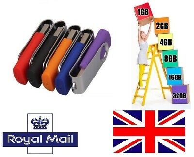 UK Stock - LOT 5 Pack 1MB-4GB USB Flash/Thumb/Pen Drive Memory Stick Storage