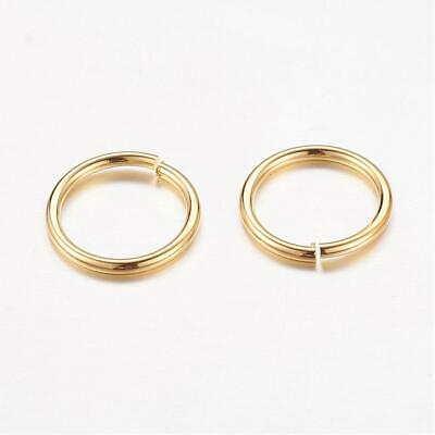 Packet of 300+ Antique Golden Plated Brass 1 x 10mm Jump Rings