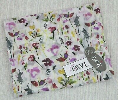 PEONY FLORAL SCARF White Meadows Garden Flowers Summer Spring Scarves Gifts UK