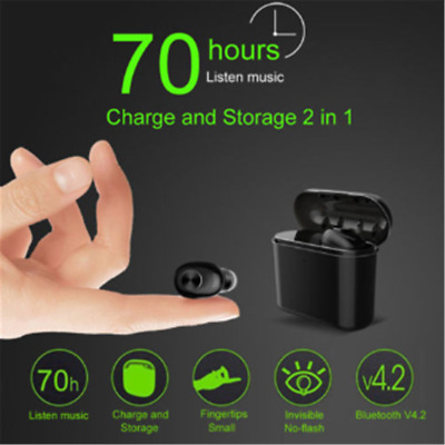 Mini BT 4.2 Earphone Headset Wireless In-Ear Earbuds with Charging Box