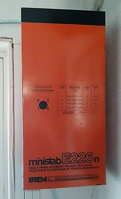 Irem Ministab E226N Single Phase Automatic Voltage Regulator - 8 Kva - 36A