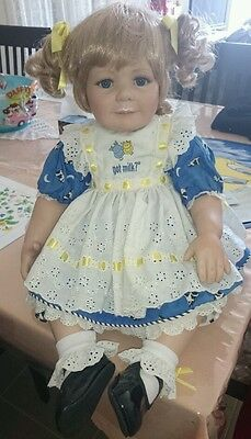 "Marie Osmond Porcelain Doll ""got milk"". Beautiful doll. As new."