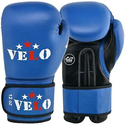 VELO AIBA Leather Boxing Gloves Fight Competition Approved Glove