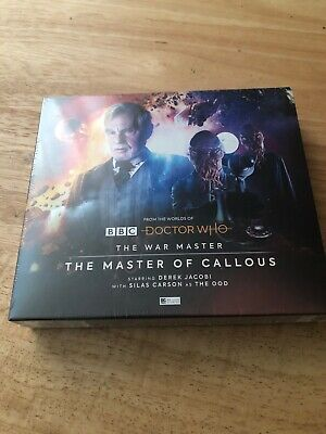 NEW Doctor Who The War Master 2: The Master Of Callous CD Set - Big Finish