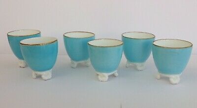Lovely set of six antique, Victorian, egg cups