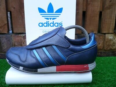 new style 61421 87153 VINTAGE Adidas MICROPACER 80 s casuals 2002 BLUE LEATHER VERY RARE UK8.5  LOOK