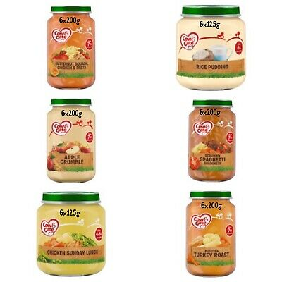 Cow & Gate Baby Food Various Flavers Dinners/puddings Free Postage!!