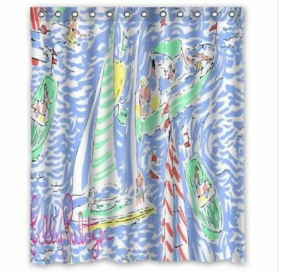 f85cb16c88769 DELIGHTFUL NEW LILLY Pulitzer Summer Prints Blue Shower Curtain 58 ...