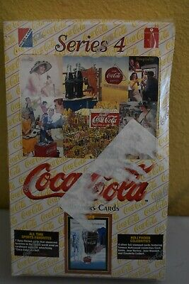 Coca Cola Coke Series 4 Trading Card Box Factory Sealed 36 packs per box NEW