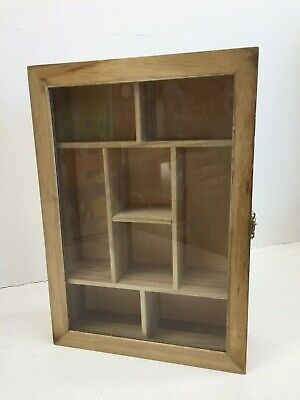Display Case For Miniatures, Thimbles, Medals, Etc. - Hinged Lid