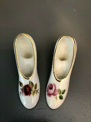 Pair of Bone china shoes