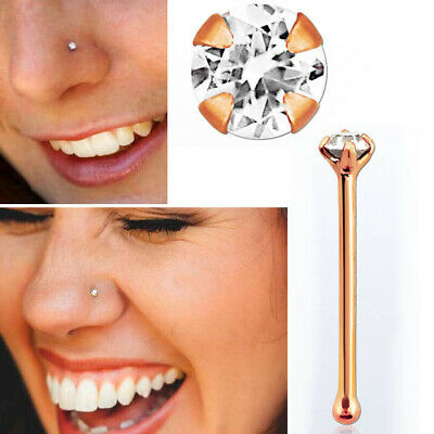 Piercing Deals 22g Thickness Wearable Bone 14k Gold Nose Rings