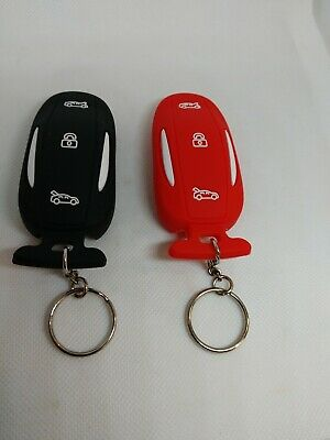 2 Silicone Key Fob Cover Keyless Case Remote Jacket For Tesla Model S X P85d P70