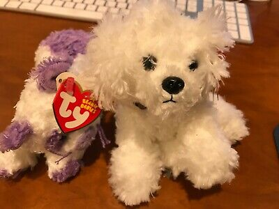 TY Beanie Babies Violetta AND Lollipup- Both with tags - Fast Free Shipping