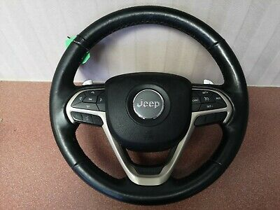 2015 Jeep Grand Cherokee Driver Airbag And Heated Leather Steering Wheel  OEM