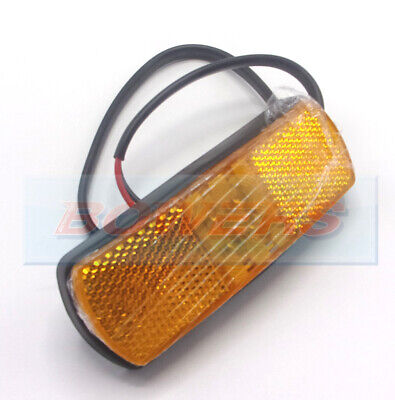 12V 24V Volt Amber Orange Led Side Marker Reflective Lamp Light 8141B 0.171.60
