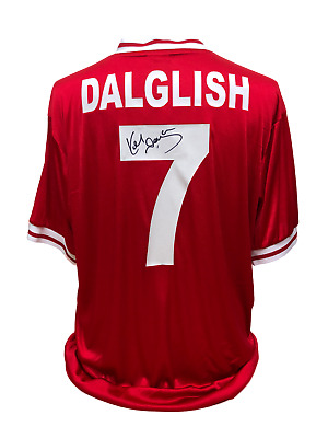 Kenny Dalglish Signed Retro Liverpool 1987  No 7 Football Shirt Proof & Coa