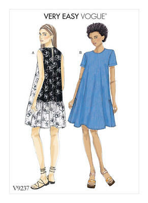 Vogue Sewing Pattern 9237 V9237 Misses 16-26 Easy Loose Pullover Swing Dresses