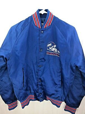 59281f8ba Vintage Chalk Line New York Giants Satin Bomber Jacket VTG Rare Youth Sz 18  20